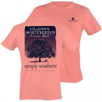 Simply Southern - T-Shirt- Adult - PRPTREE - Melon by WoosTooBoutique on Etsy