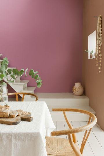 Rose dans la salle à manger - Plus de 30 couleurs pour repeindre votre salon - CôtéMaison.fr