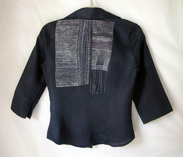 hand stitched silk