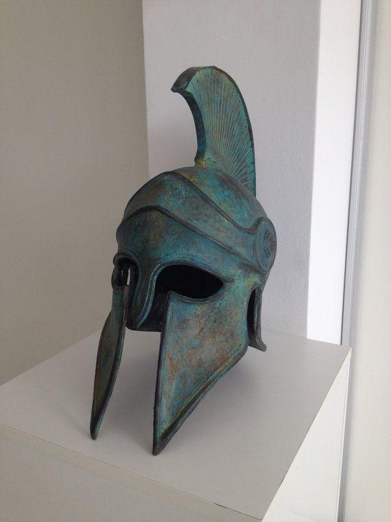 Casco griego antiguo casco corintio casco por BirdArtBulgaria