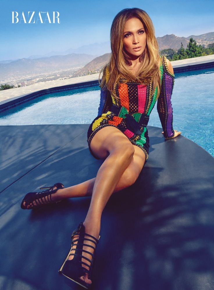 Jennifer Lopez wears skin tight Balmain dress and belt with Giuseppe Zanotti for Jennifer Lopez shoes