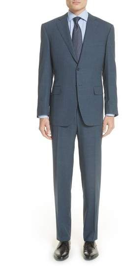 5743b153476 Canali Classic Fit Check Wool Suit