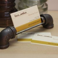Industrial Design Business Card Holder Made From Iron Pipe