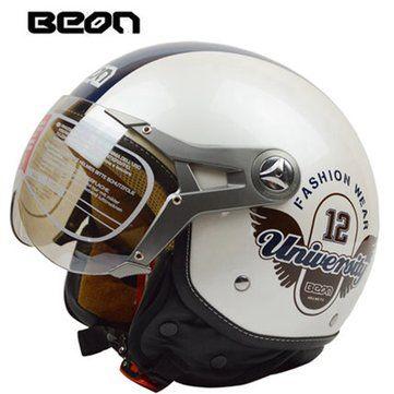 Motorcycle Air Force Half Face Helmet Jet Pilot For Harley BEON B-100 Sale - Banggood.com