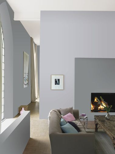 12 nuances de peinture gris taupe pour un salon zen salons wall tv and walls for Peinture salon gris