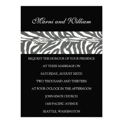 Black Safari Wedding Invitation