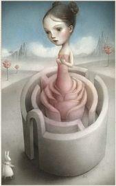 La Marelle `Kaart Nicoletta Ceccoli Labyrinth`