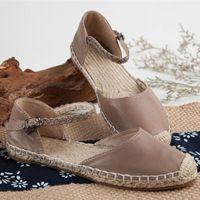 Új 2016 tiszta kézzel sző valódi bőr cipő, női bőr retro art mori lány cipő, nyári cipő Lakások
