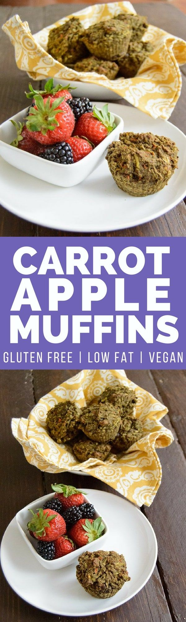 These flax carrot apple muffins are a healthy way to start the day. This vegan, gluten free, low fat recipe is perfect for busy days!   bitesofwellness.com #lowfat #vegan #glutenfree