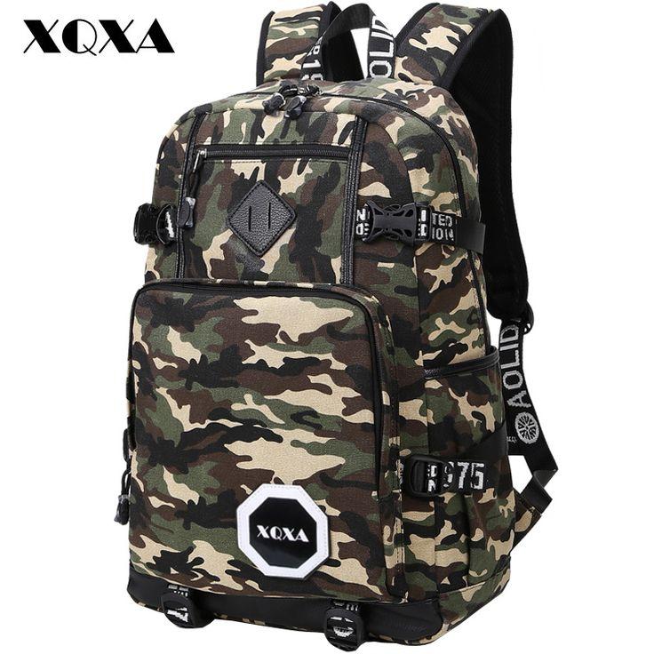 XQXA Camo Backpack Men Preppy Style School Backpacks for Boy Girl Teenagers High School Middle School Bags Large Capacity