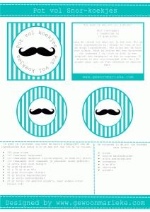 Pot vol koekjes onderdeel van Mister Moustache Birthday-Printables
