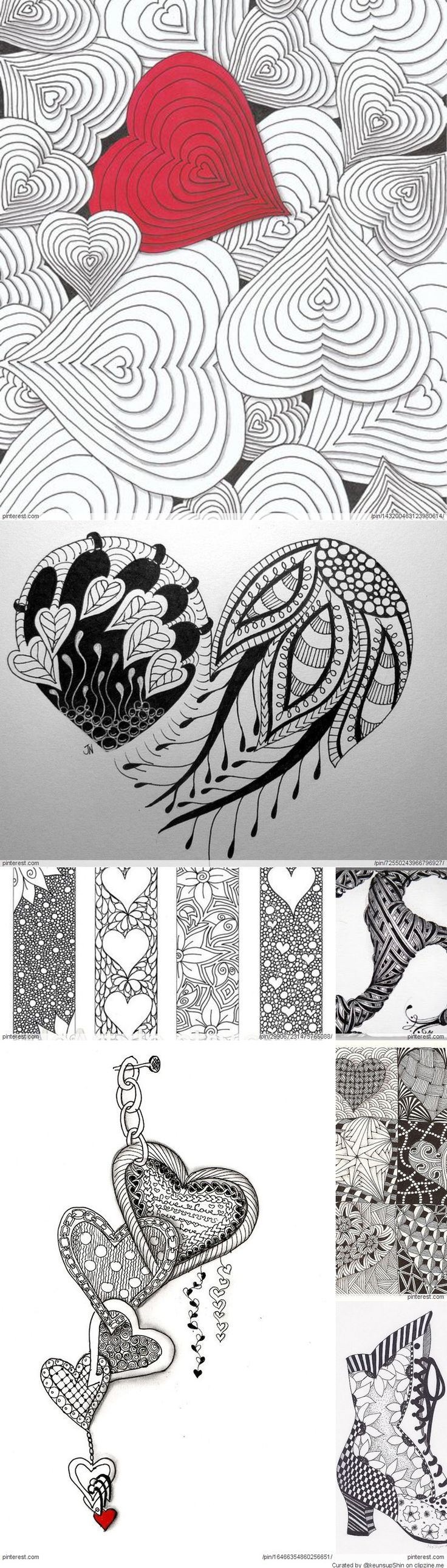 Zentangle Valentine s Day Ideas