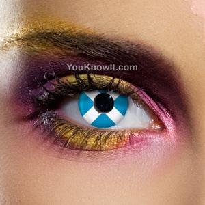 Scottish Flag Contact Lenses (Pair)