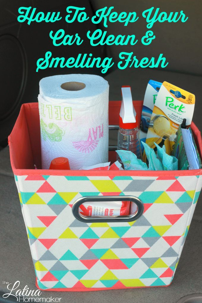 How To Keep Your Car Clean and Smelling Fresh. Simple tips that will help you keep your car clean and smelling fresh! #PERKFRESH #ad