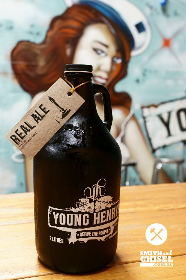 A delicious real Ale Growler from Young Henrys.  Smith and Chisel's favourite beer.  See the profile story at https://smithandchisel.com.au