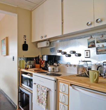 Kitchen Design Ideas, Pictures, Remodeling and Decor, sheet metal backsplash