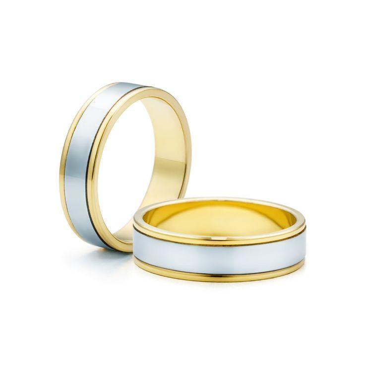 SAVICKI - Obrączki ślubne: Obrączki z dwukolorowego złota (Nr 74) - Biżuteria od 1976 r.