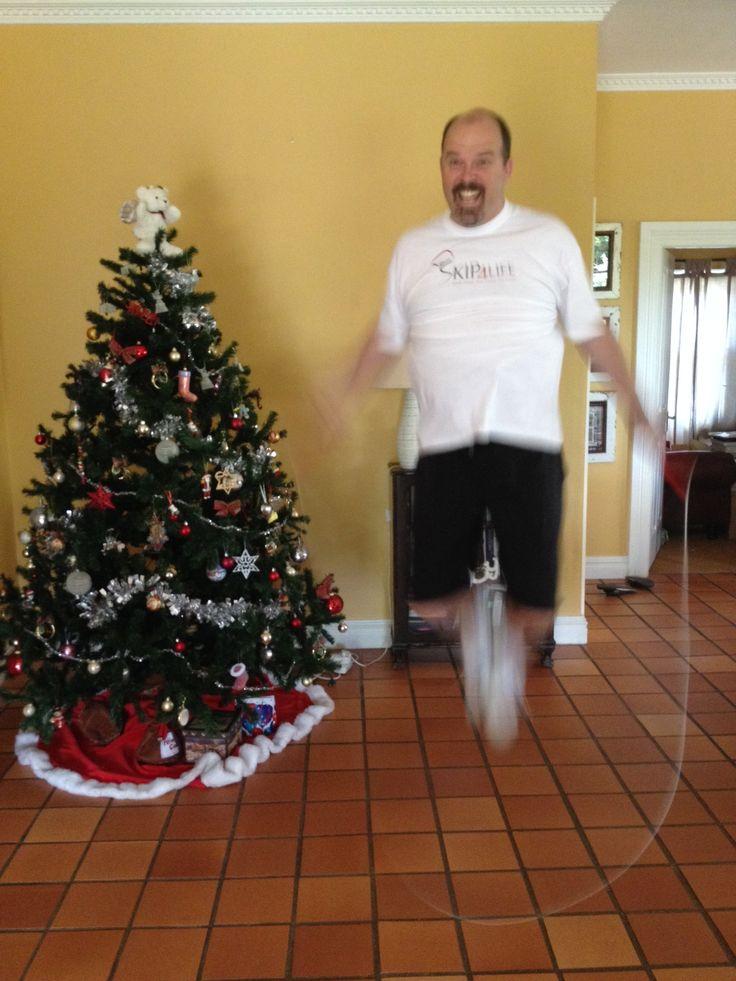 Sean Willard - My skipping spot is a tad cramped but hey, it's Christmas time!! www.skip4life.com