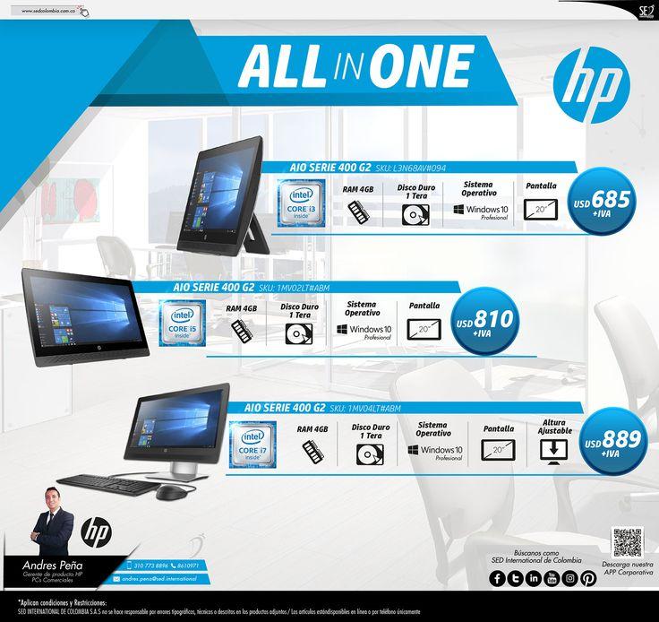 All in One de HP : Contacta a tu gerente de producto para más información: Andres Peña Celular: 310 773 8896 Email: andres.pena@sed.international #HP #SEDCOLOMBIA #SEDINTERNATIONAL