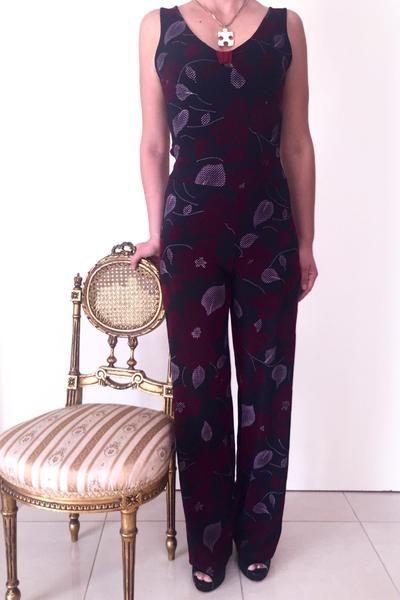 Burgundy Floral Jumpsuit #tangoattire #tangooutfit #tangocustume #argentinetango #condiva