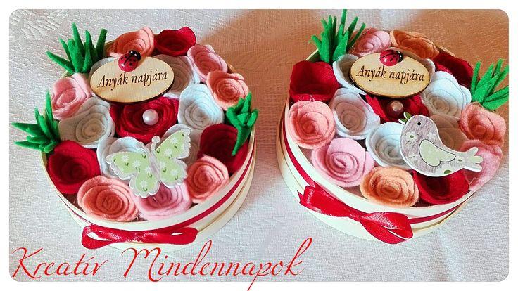 Mini virágdoboz Anyák Napjára