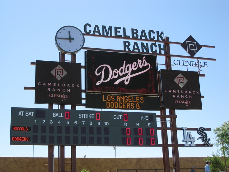 Dodgers spring training -Camelback Ranch
