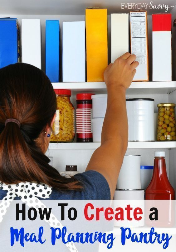 Use these tips and learn how to create the ultimate meal planning pantry and pantry inventory. This will make is easy to meal plan and feed your family. This can save you time and money! Home, Life, Kitchen, Idea