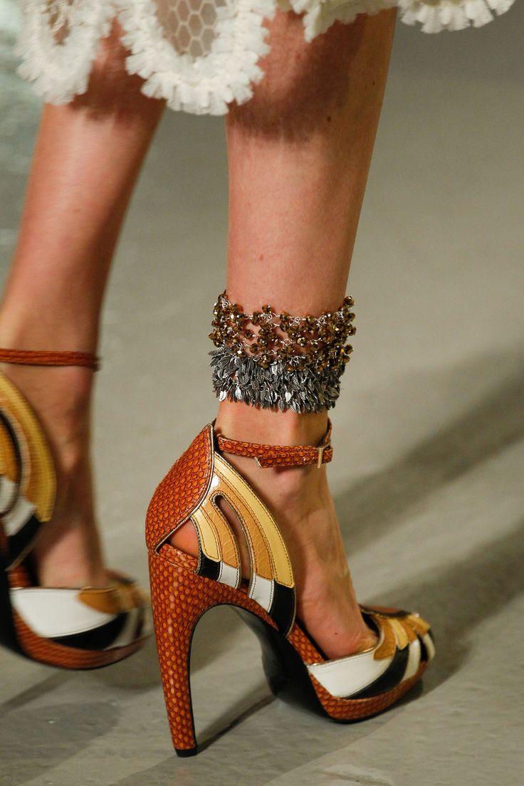 Ankle bracelet!! Rodarte Spring 2017 Ready-to-Wear Fashion Show Details