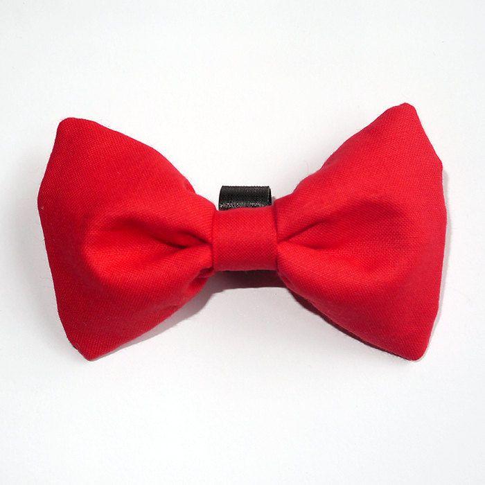 Dog Bow Tie Red Pet Bow Tie Bowtie Collar Attachment Model Amor, dog gift idea, Psiakrew by PSIAKREW on Etsy