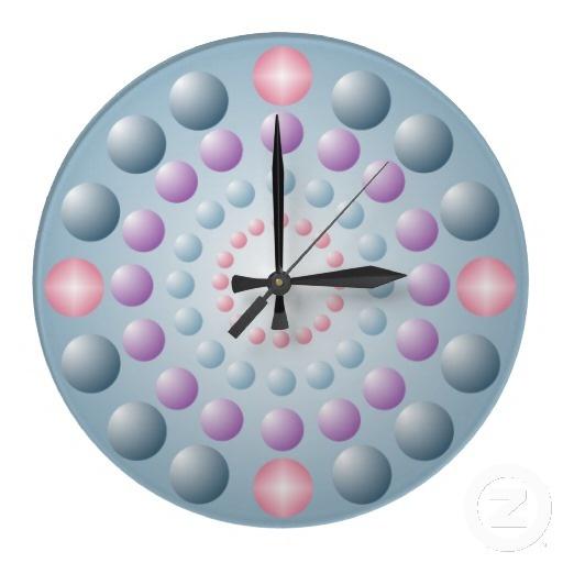 Pastel Polka Dot Beads Wall Clock