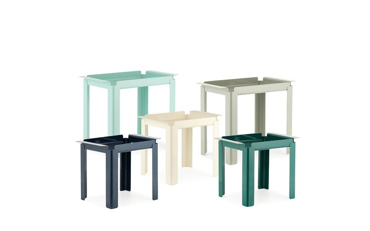 Box Table | Bright Turquoise Side Table