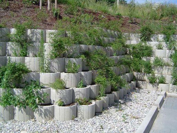 Retaining Wall Ideas Cinder Block Retaining Wall Affordable Retaining Wall Ideas Concrete Planter In 2020 Concrete Planters Stone Walls Garden Concrete Retaining Walls
