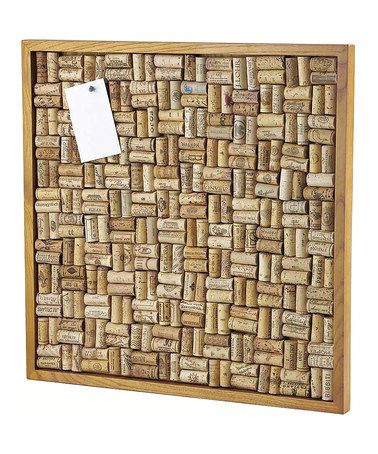 Maple Stain Large Cork Board Kit by Wine Enthusiast !