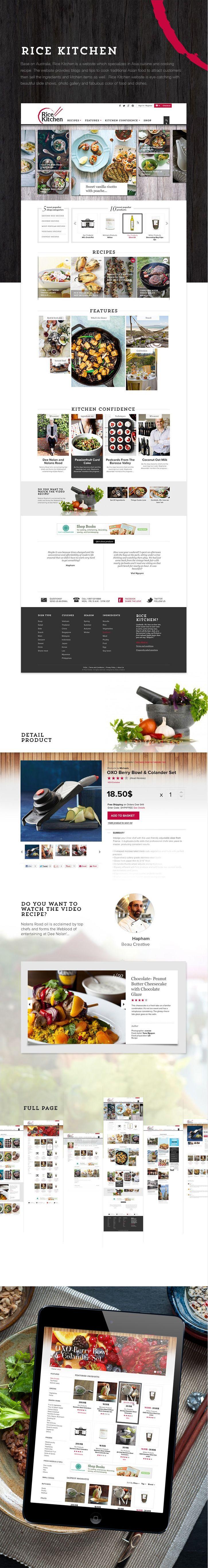 Rice Kitchen #website #web #restaurant #asian #shop #ecommerce #food