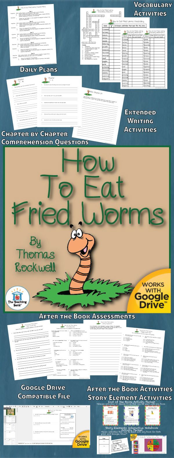 How To Eat Fried Worms Novel Study Is Amon Core Standard Aligned Book  Unit To