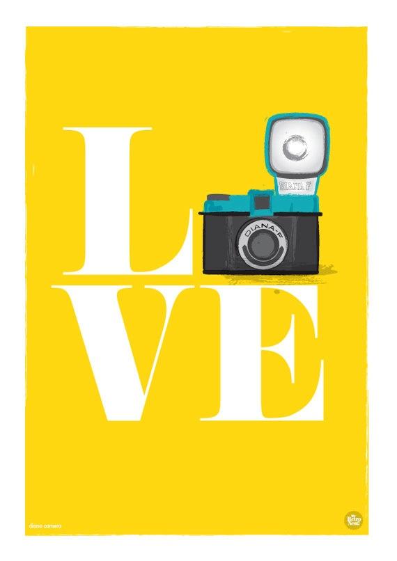 Poster para quadros | câmera | love