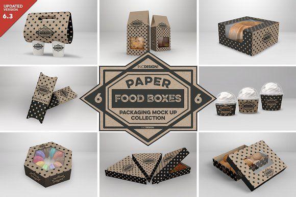 Download Vol 6 Food Box Packaging Mockups Food Box Packaging Stationery Mockup Packaging Mockup