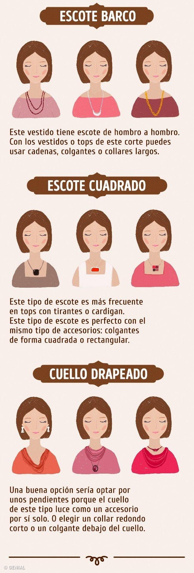 Cómo elegir ycombinar collares con escotes yaretes con turostro