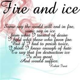 An analysis of desire and hate in fire and ice by robert frost