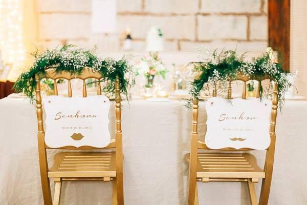 Golden Wedding chairs