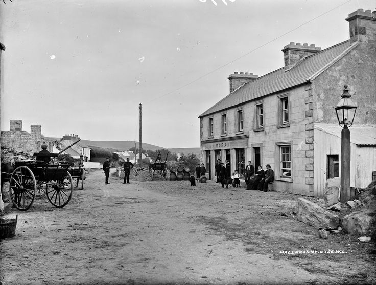 "Gridlock in Mallarany. National Library of Ireland on The Commons | Down the ""Wesht"" today to Mallarany which I suspect is also known as Mulrany? Mr. French appears to have brought traffic police the dogs and the local population all to a standstill. The great saviour of all police motor cyclists who had lapses of concentration leading to crashes and damage to their ""vehicles"" was the black dog and here we can see where those dogs originated! Thank you Mr. French for locating them…"