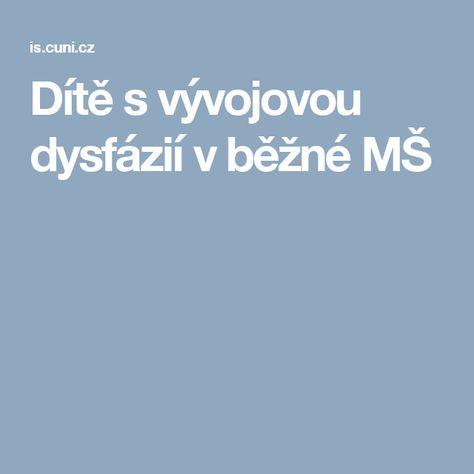 DP - Dítě s vývojovou dysfázií v běžné MŠ