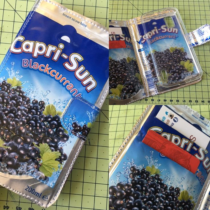 Another custom order flip phone case for a Capri Sun blackcurrant fan! More coming soon 📱