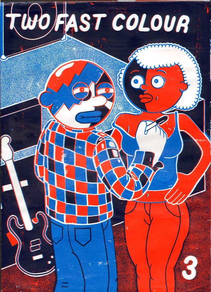 Copertina della rivista Two Fast Colour #3