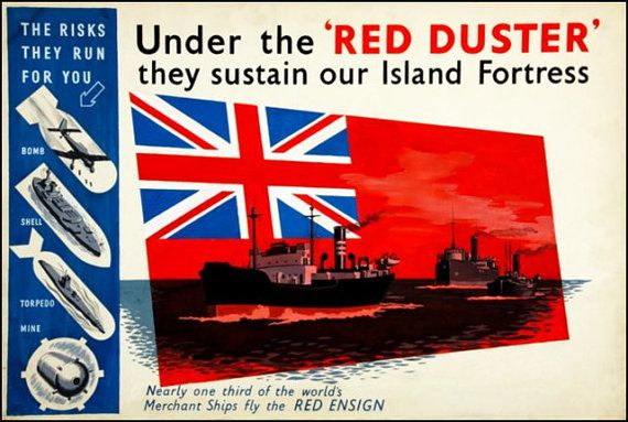 Art Print Britain Merchant Navy Advert Print World by BloominLuvly