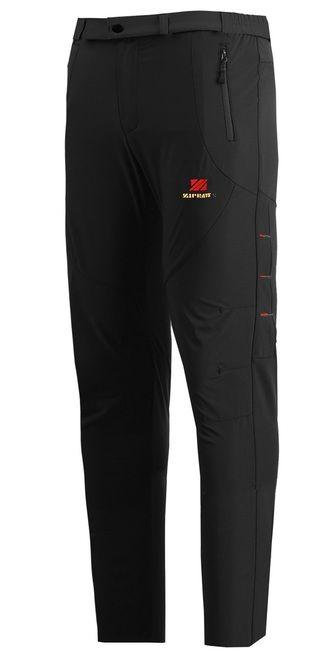 Zipravs Mens Walking Trekking Lightweight Hiking Black Trousers - ZIPRAVS