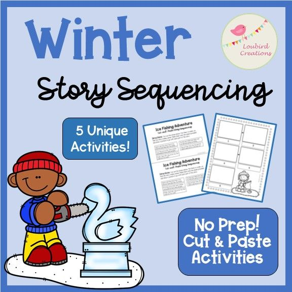 winter story sequencing cut paste let it snow story sequencing sequencing activities. Black Bedroom Furniture Sets. Home Design Ideas