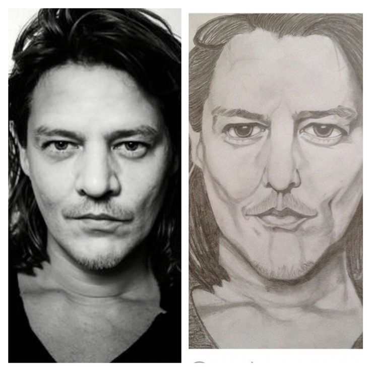 Tygo Gernandt (dutch actor) portrait, pencil drawing
