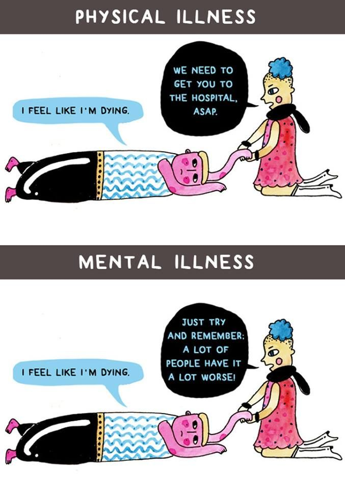 physical illness vs. mental illness