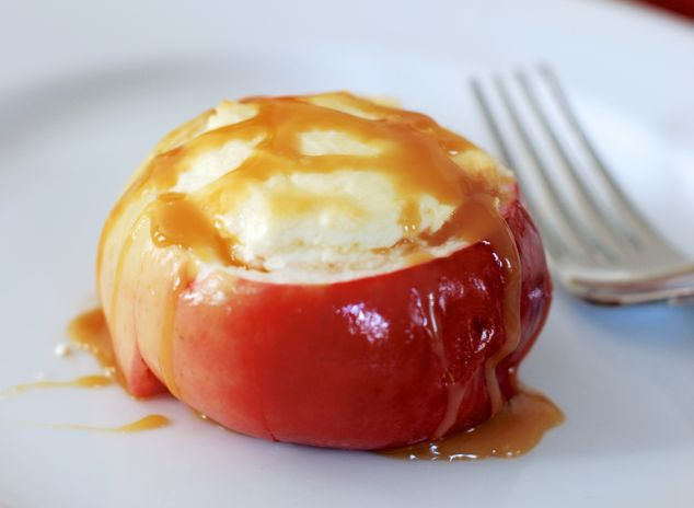 Give your cheesecake dessert a new twist by baking it in apples and drizzling it with caramel! We have the recipe — and 6 more! — only at Babble.
